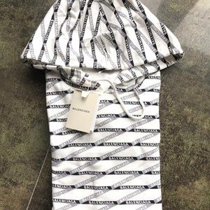 Balenciaga Printed Hoodie Sweatshirt